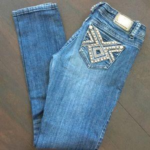 Grace in LA Skinny Jeans Embellished Pockets 25